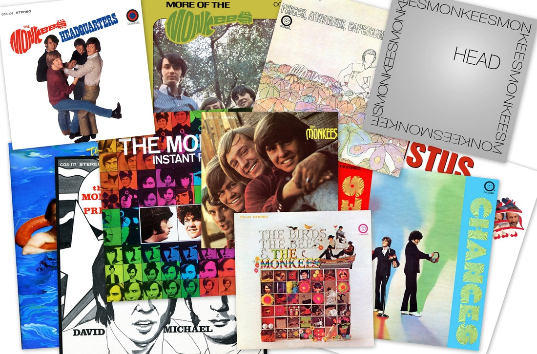 Monkees albums collage