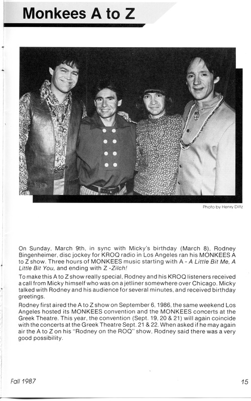 Monkees Rodney Bingenheimer