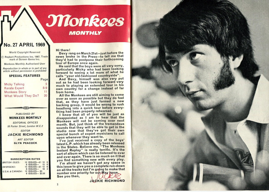 Monkees Monthly April 1969