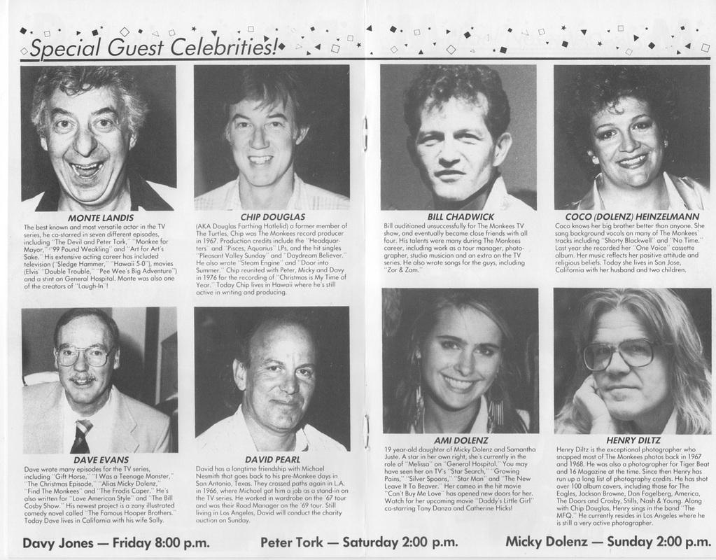 1988 Chicago Monkees convention guests
