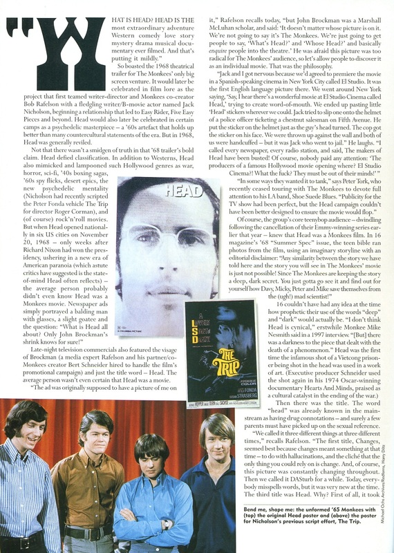 Monkees Head article