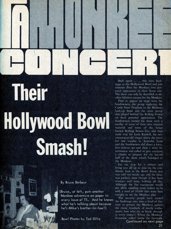 Monkees Hollywood Bowl concert 1967