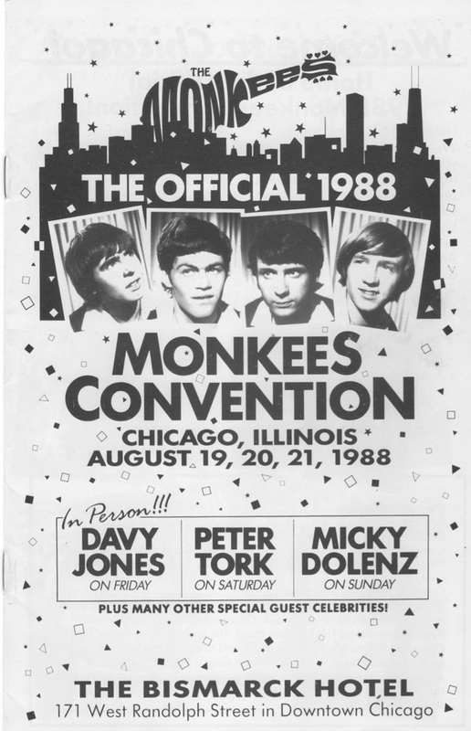 Monkees 1988 Chicago Convention program