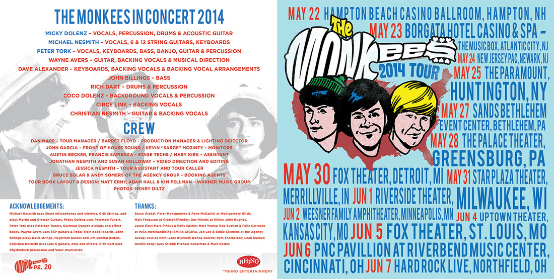 Monkees 2014 tour crew