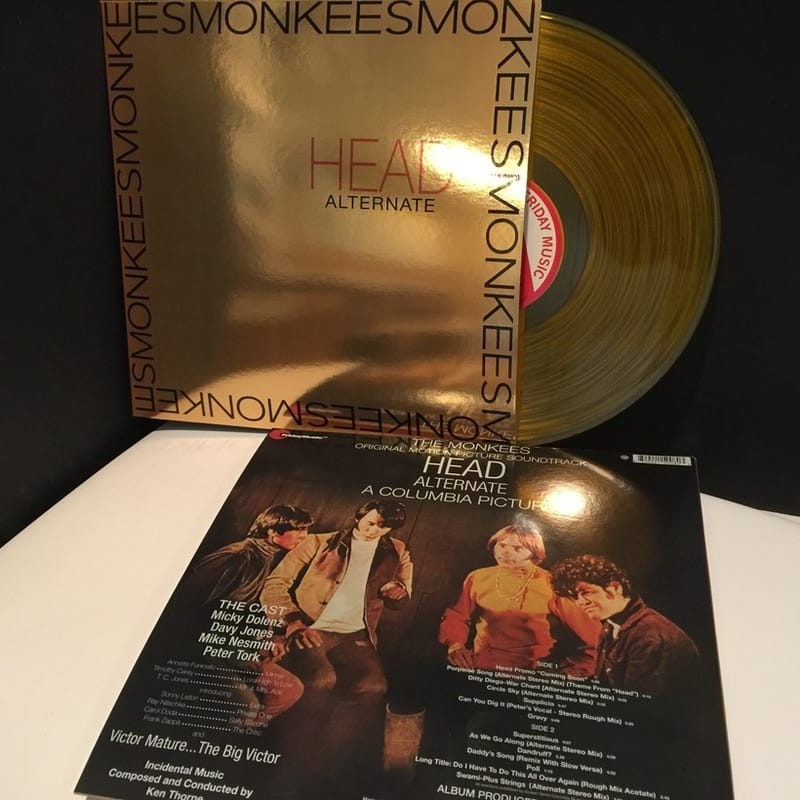 Monkees Head gold vinyl
