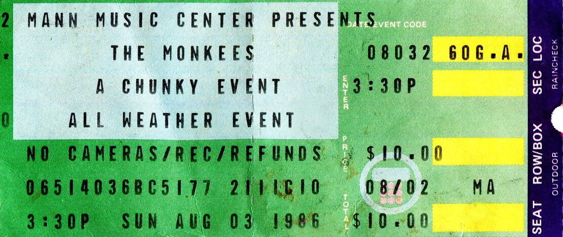 Monkees 1986 Mann Music Center