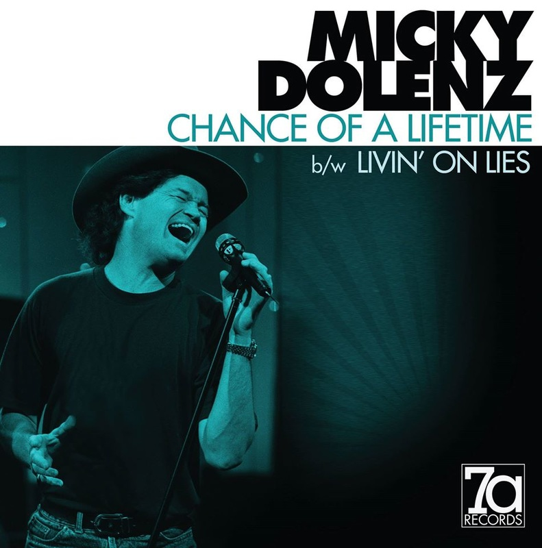 Micky Dolenz Chance of a Lifetime Livin on Lies single 45 picture sleeve