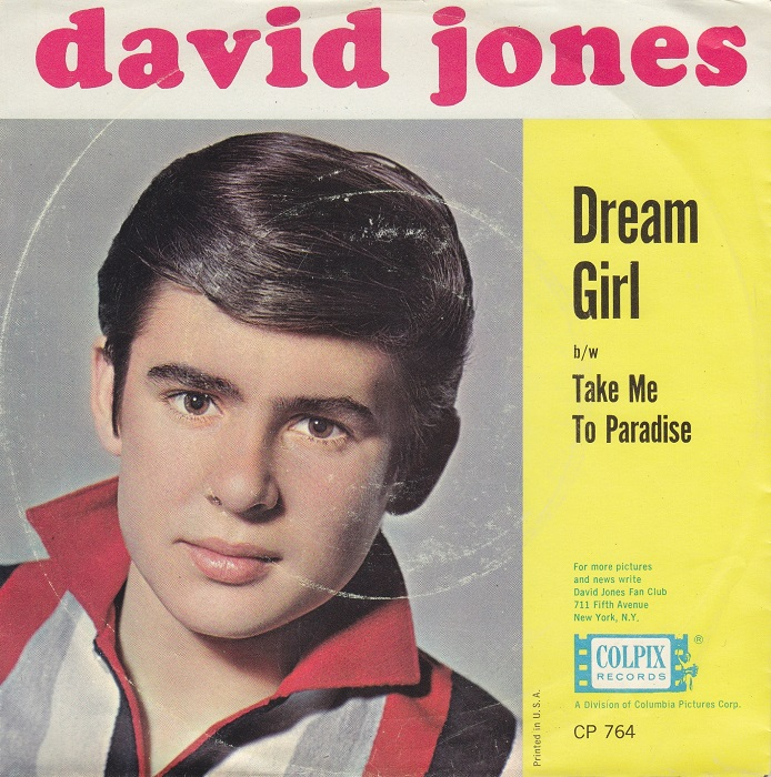 David Jones Dream Girl picture sleeve