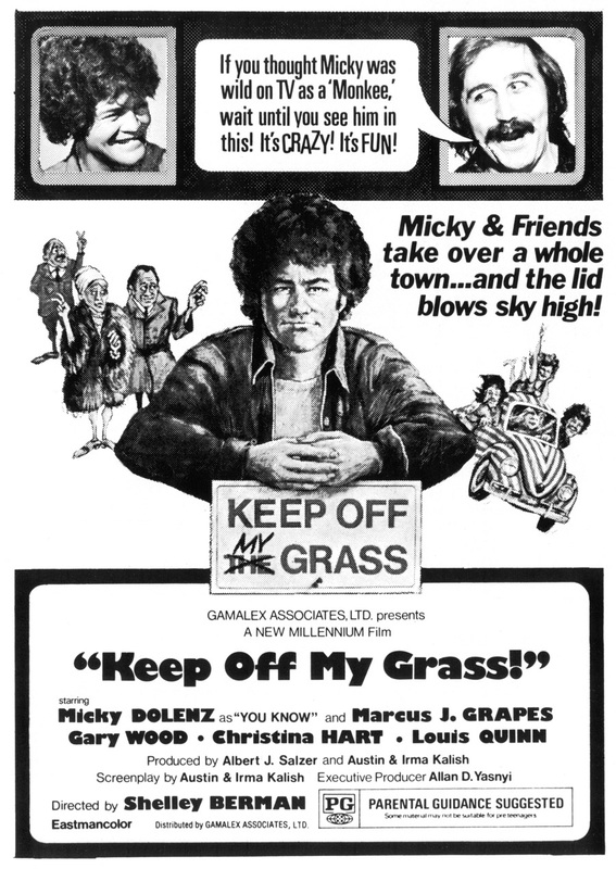 Micky Dolenz Keep Off My Grass movie poster