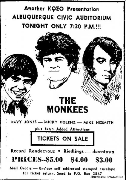 1969 Monkees tour live