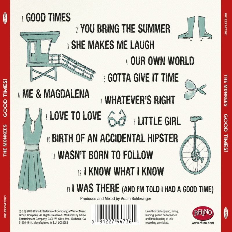 Good Times Monkees back cover