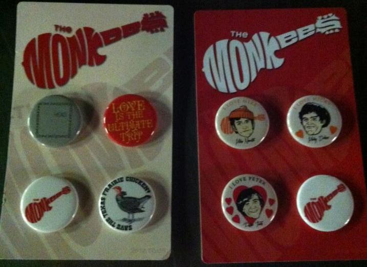 Monkees merchandise buttons 2012