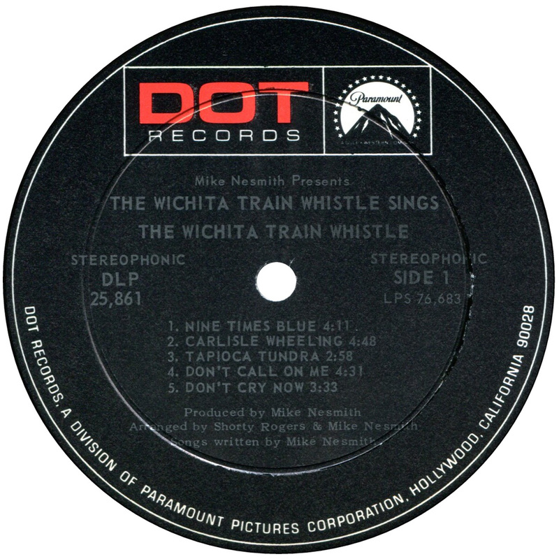 Wichita Train Whistle Sings label