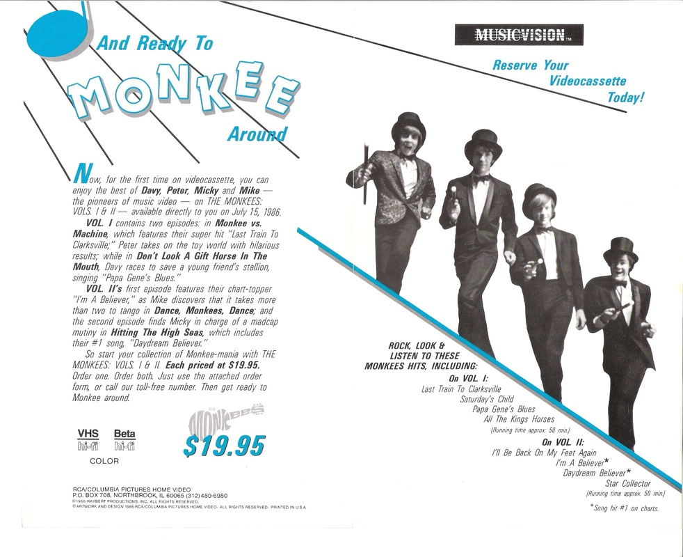 Monkees VHS ad