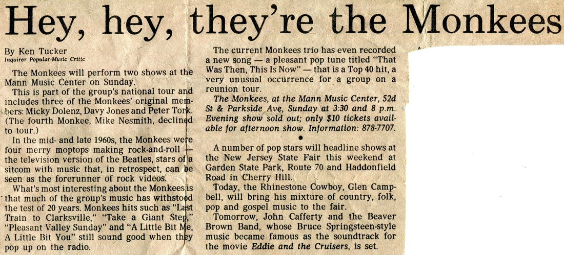 1986 Mann Music Center Monkees