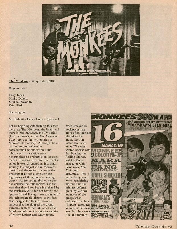 Monkees TV series article