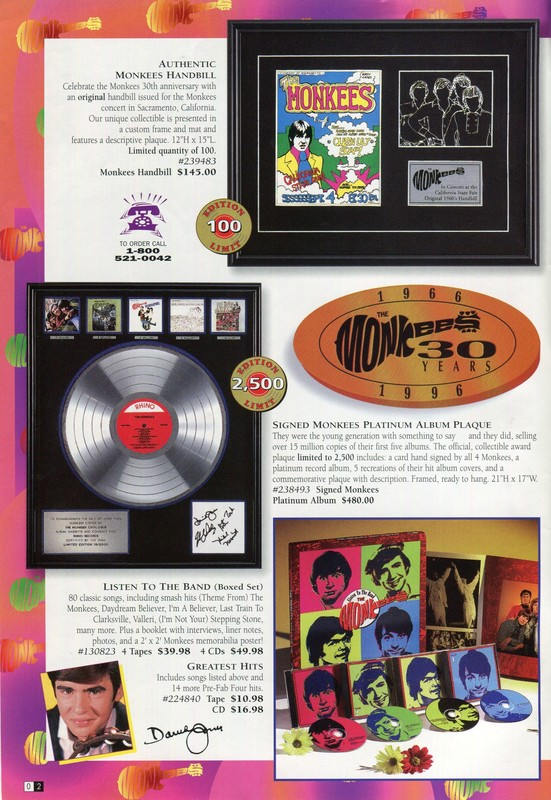 Monkees platinum album plaque