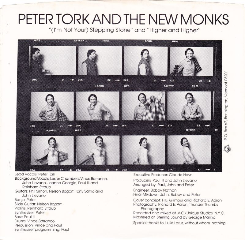 Peter Tork Higher and Higher single Stepping Stone
