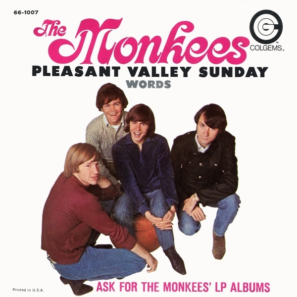 Monkees Pleasant Valley Sunday picture sleeve