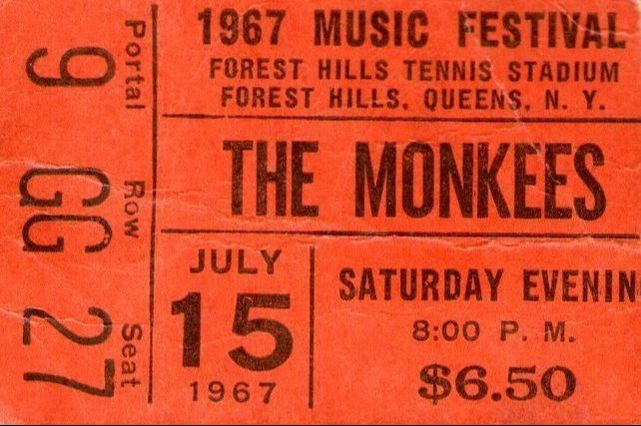Monkees ticket Forest Hills