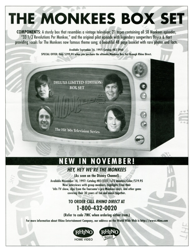 Monkees VHS box advertisement