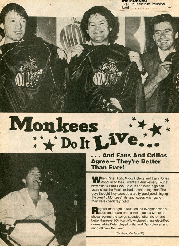 Monkees Rockline 1986