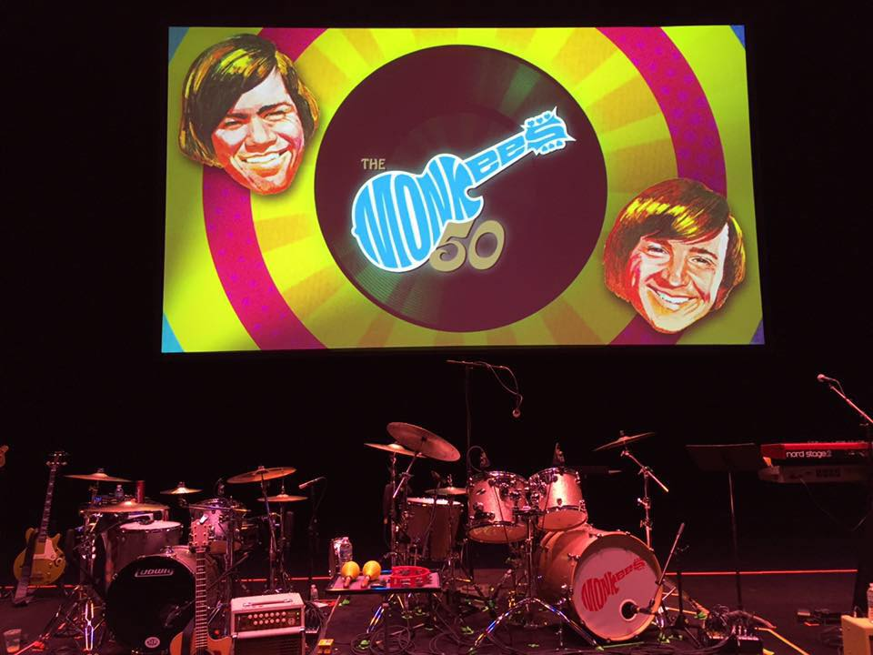 Monkees 50th Anniversary tour stage screen