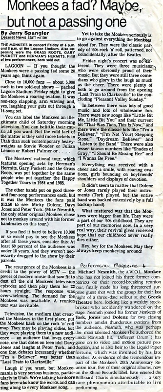Monkees review 1986