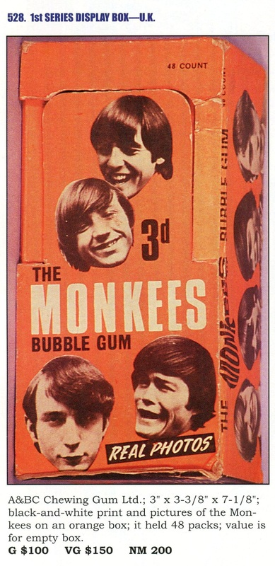 Monkees A&BC Chewing Gum Box UK