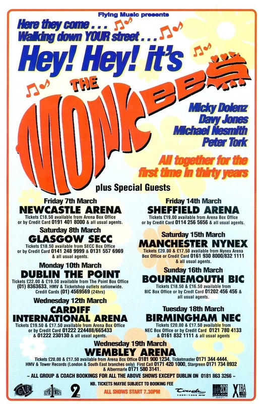 1997 Monkees Justus tour dates