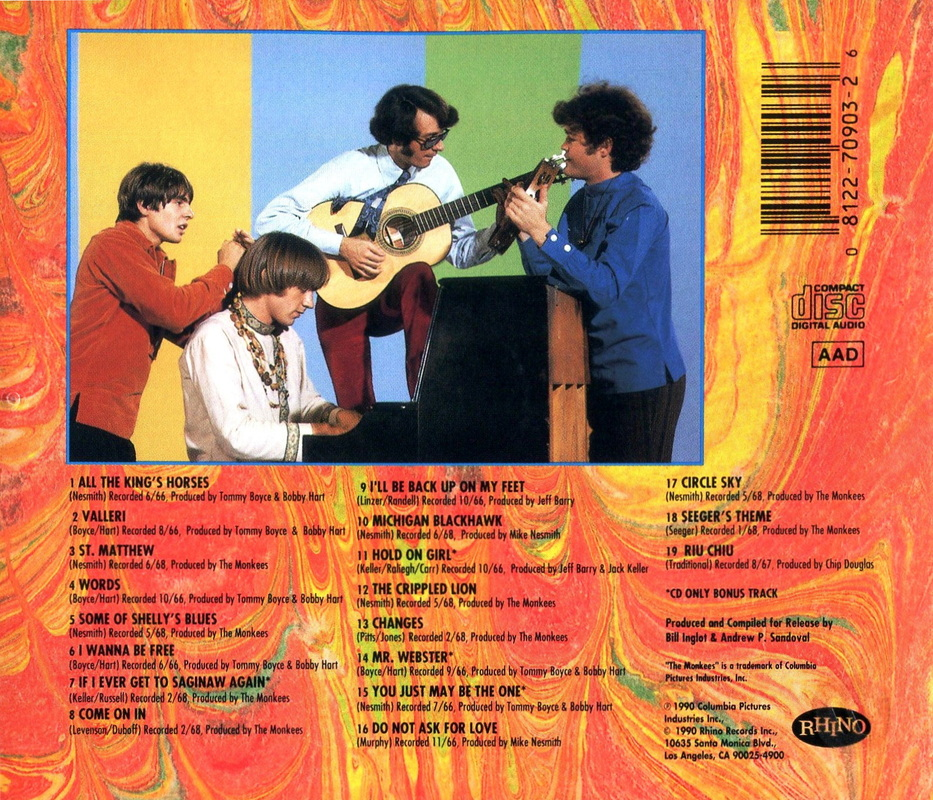 Missing Links Volume 2 CD back cover