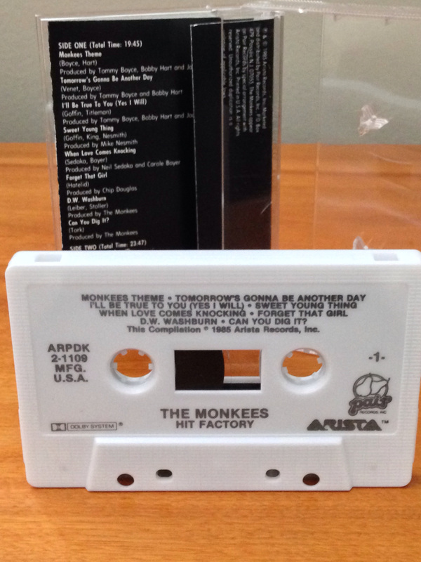 Hit Factory Monkees cassette tape
