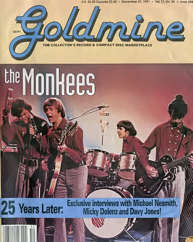 Goldmine December 1991 Monkees