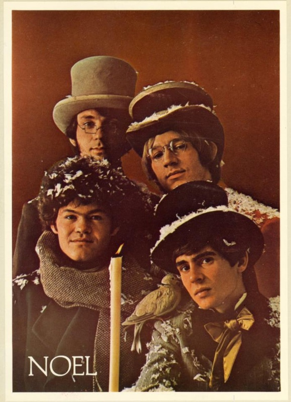 Monkees fan club Christmas card