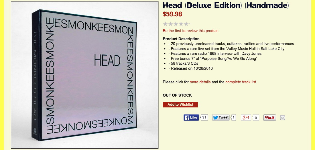 Monkees Head Deluxe