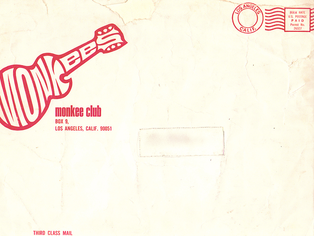 Monkees fan club envelope