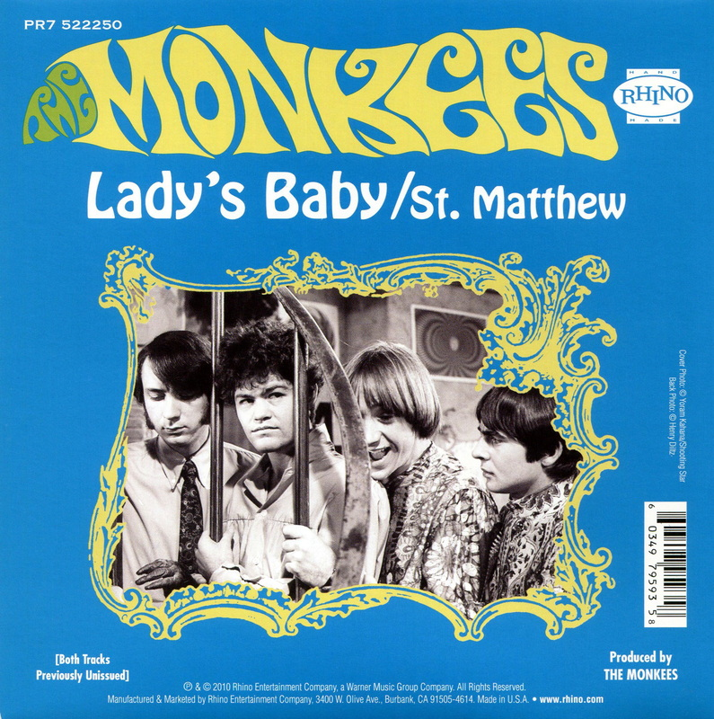 Monkees Lady's Baby picture sleeve