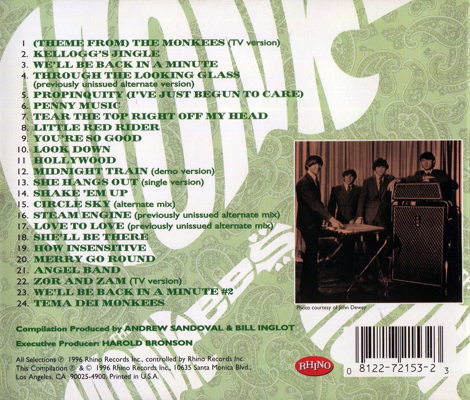 Missing Links Volume 3 back cover