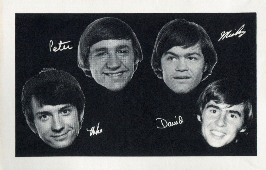 Monkees fan club membership card