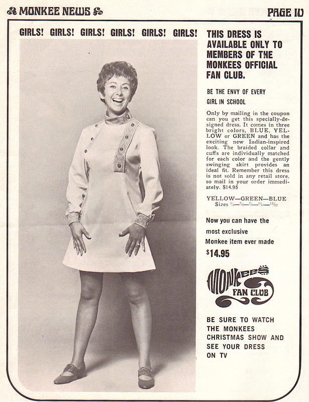 Monkees fan club dress
