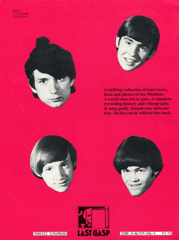 Monkees Scrapbook back cover