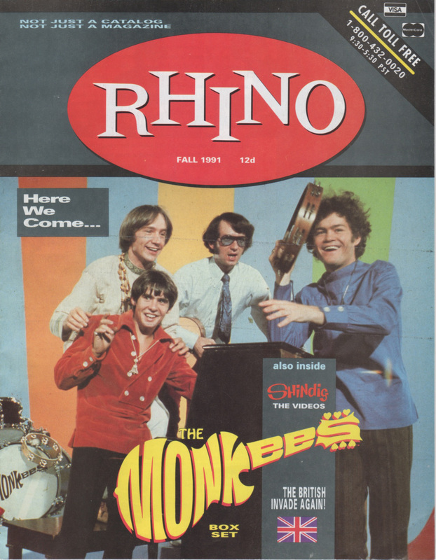 1991 Rhino Records catalog Monkees