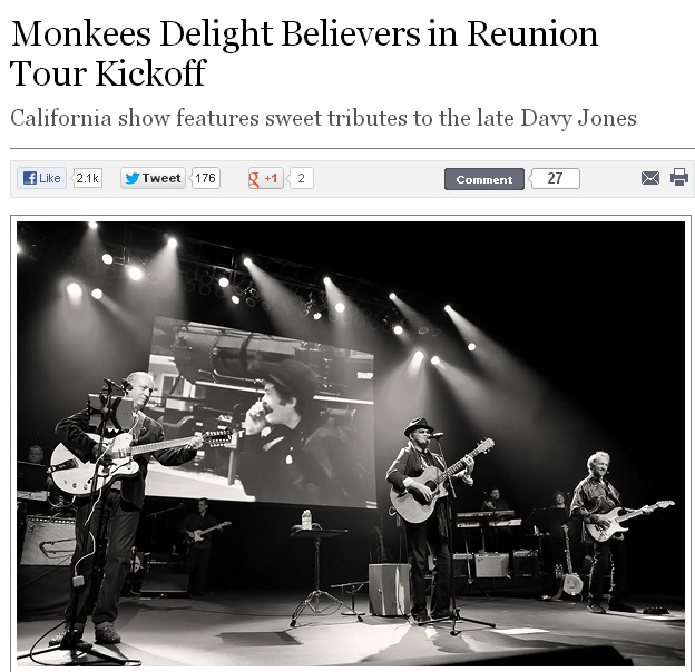 Monkees 2012 Tour Rolling Stone