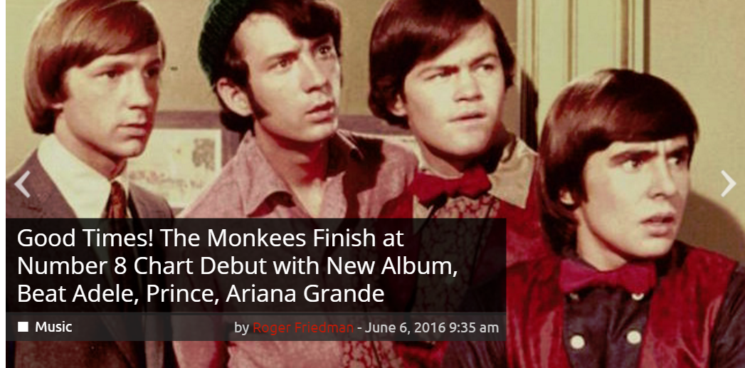 Monkees Good Times Billboard chart