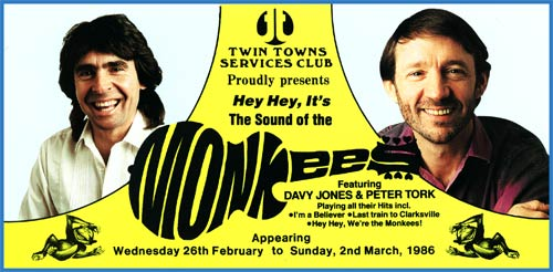 1986 Monkees tour Australia