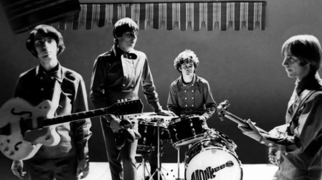 Monkees black and white photo