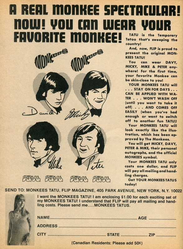 Monkees tatoo