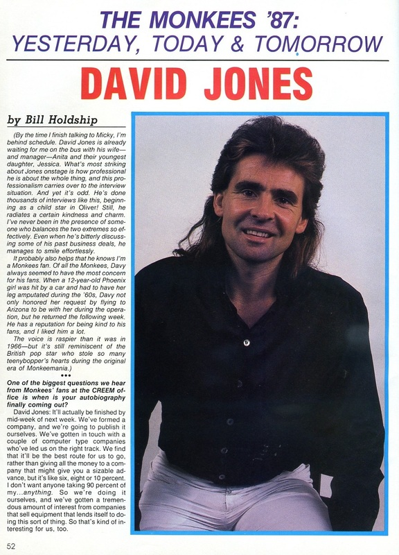 Davy Jones 1986 interview