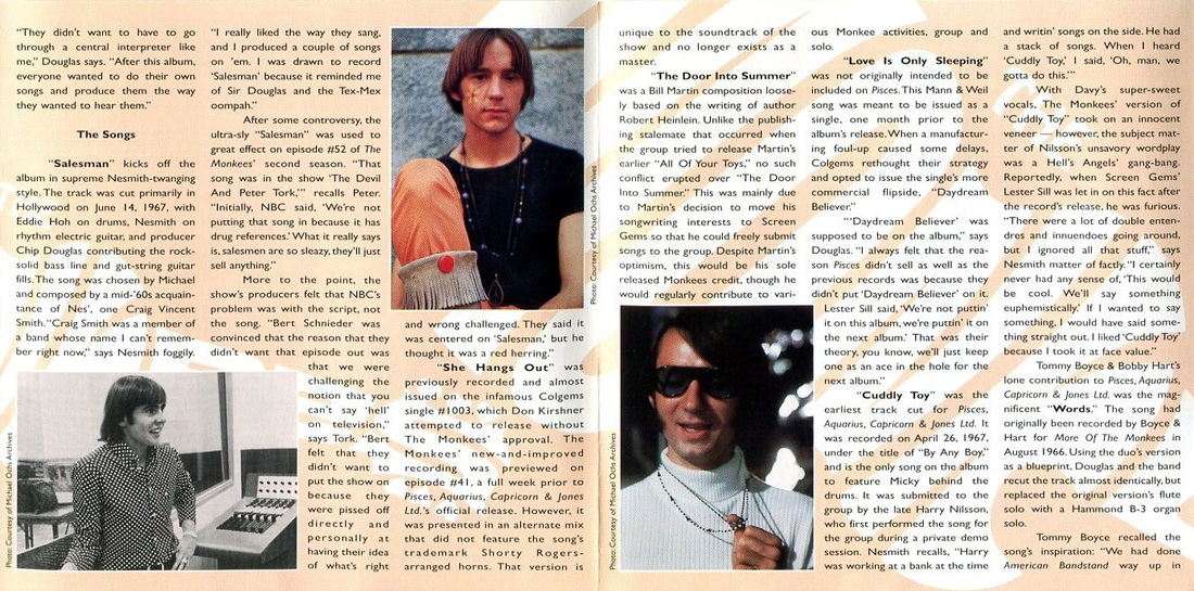 Pisces CD liner notes Monkees