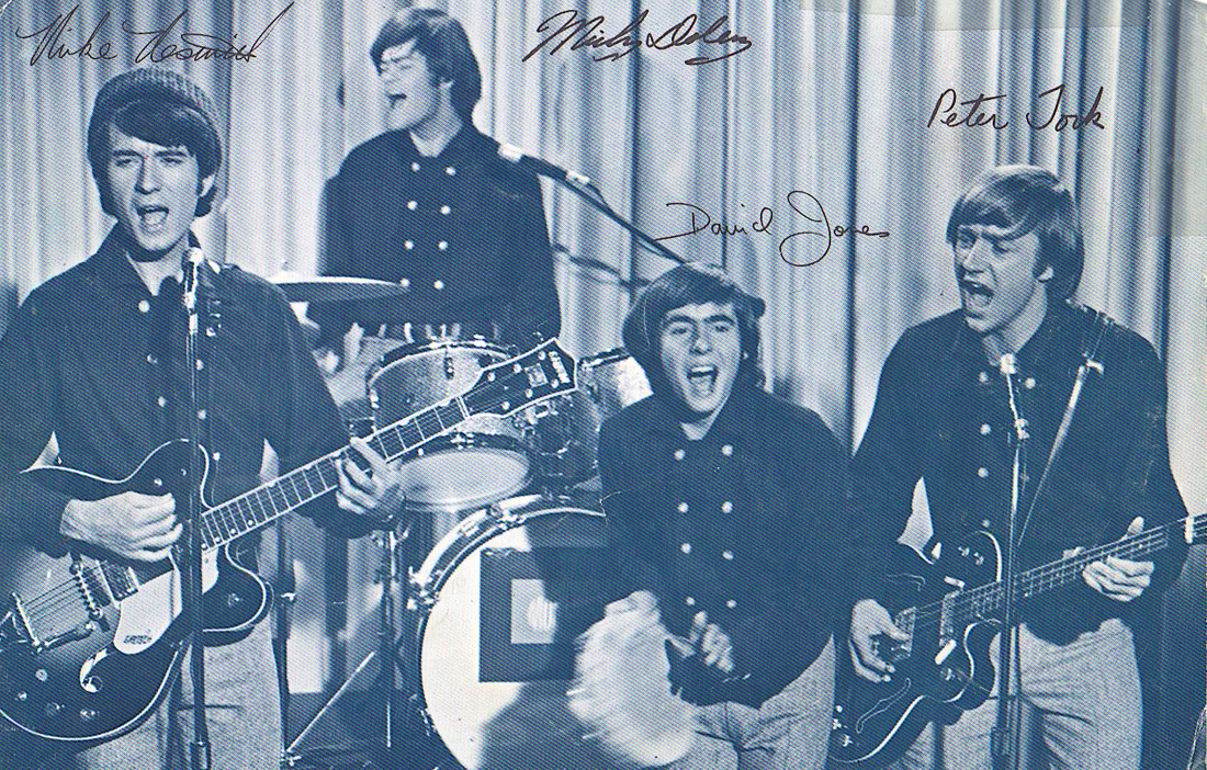 Monkees fan club postcard
